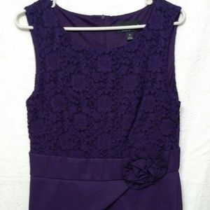 Connected Apparel, size 12, cute purple dress.